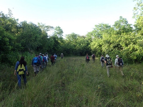 Herpetology Group heading into Wallerfield